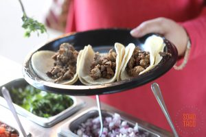 SOHO TACO Gourmet Taco Catering - Los Angeles - Facebook LA - Adding Cilantro