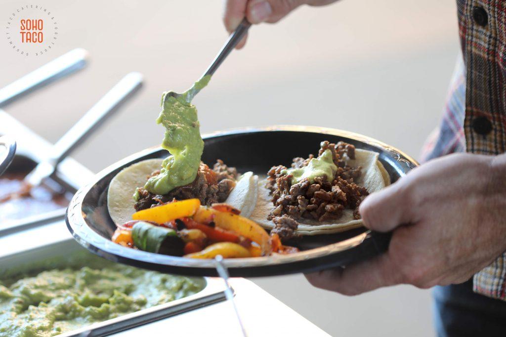 SOHO TACO Gourmet Taco Catering - Los Angeles - Facebook LA - Adding Salsa de Guacamole