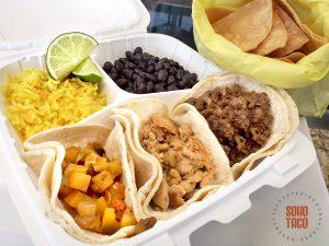 SOHO TACO Gourmet Taco Catering - Fooda Menu - 3 Taco Combo