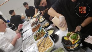 SOHO TACO Gourmet Taco Catering - Valentine DTLA - Los Angeles CA - Wedding Reception - Preparing Meals in the Kitchen