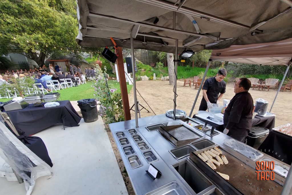 SOHO TACO Gourmet Taco Catering - Temecula Creek Cottage - Wedding Ceremony & Burritos - Temecula CA