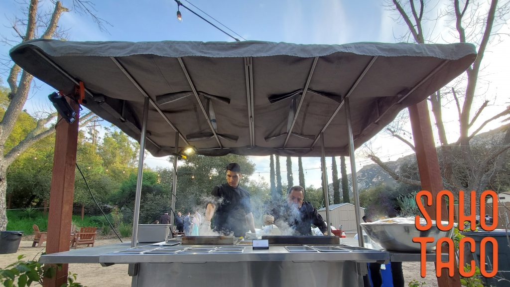 Gourmet taco cart catering by SOHO TACO at the ultra romantic Temecula Creek Cottages located in scenic Temecula CA.