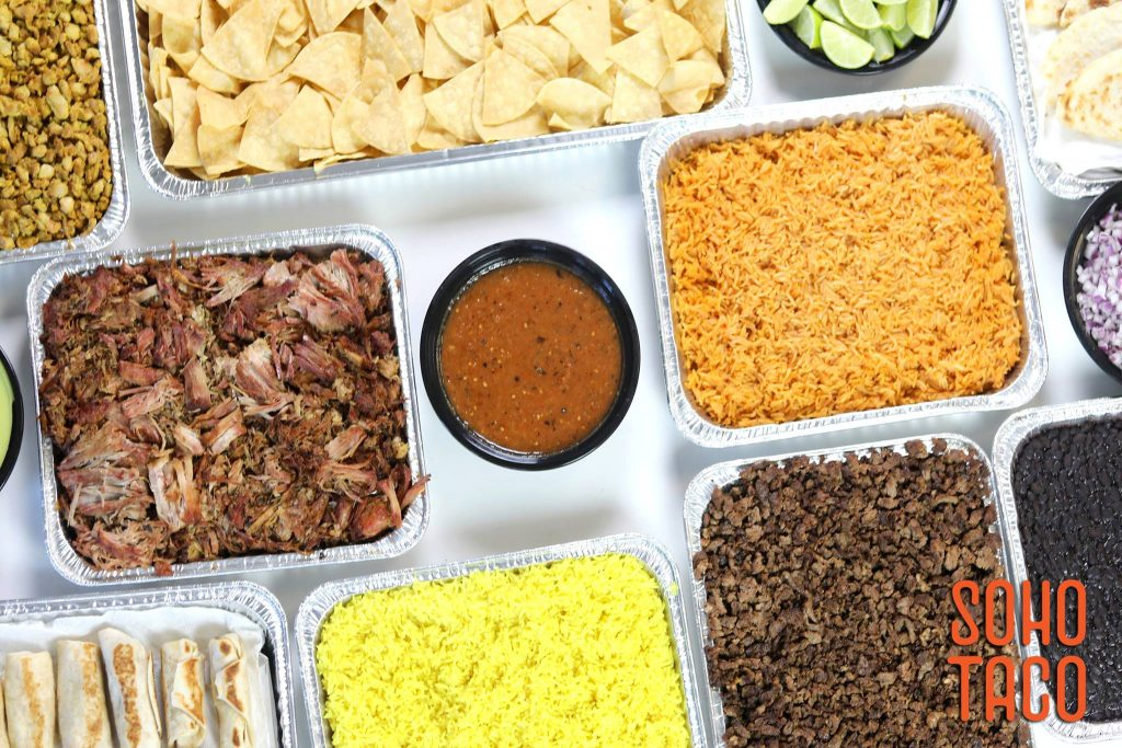SOHO TACO Gourmet Taco Catering - Drop off or Delivery Packages