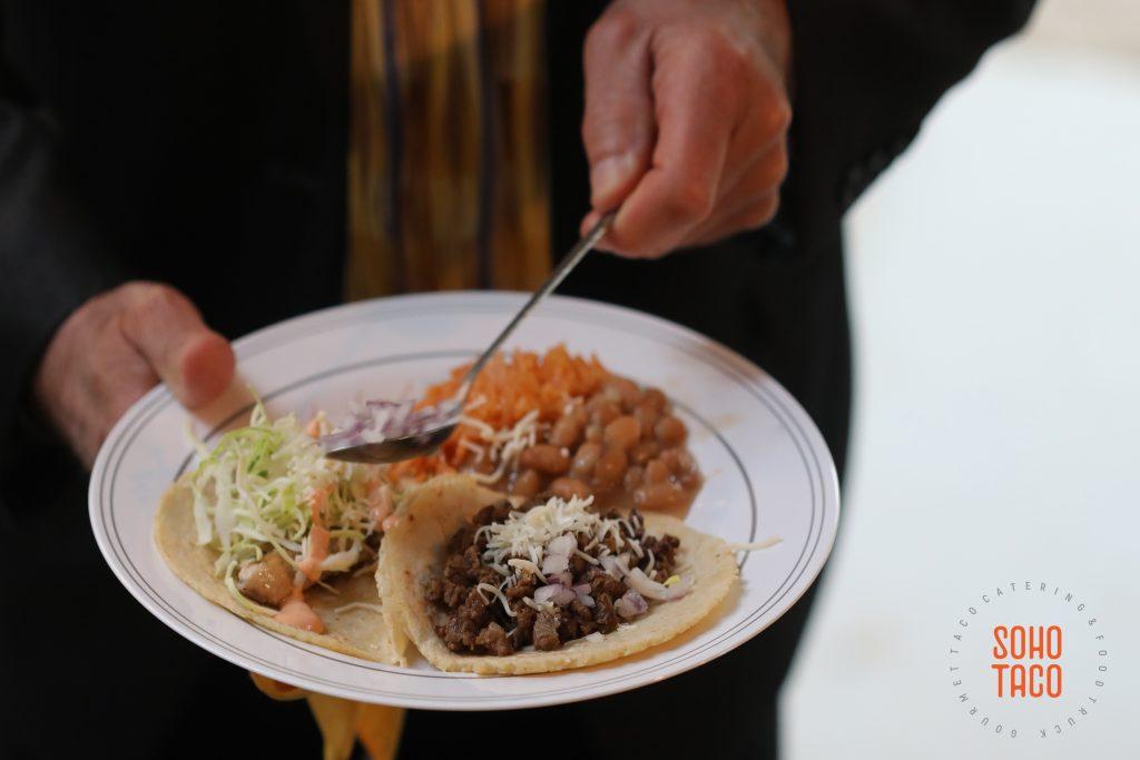 SOHO TACO Gourmet Taco Catering - Fullerton Arboretum Wedding - Adding Onions