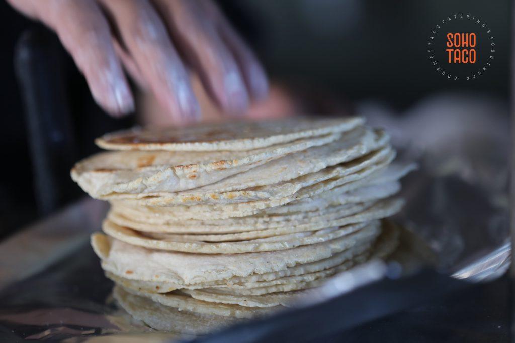 SOHO TACO Gourmet Taco Catering - Fullerton Arboretum Wedding - Fresh Hand Pressed Tortillas