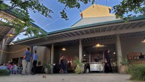 SOHO TACO Gourmet Taco Catering - Fullerton Arboretum Wedding - View of Cart in Courtyard