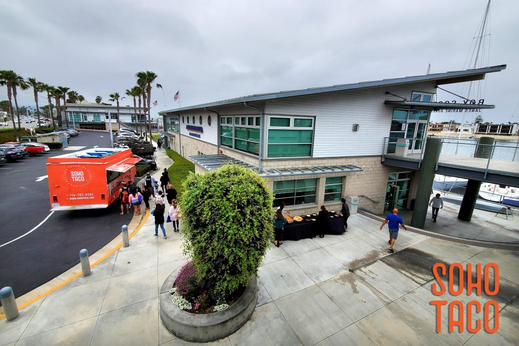 SOHO TACO Gourmet Taco Catering - Newport Sea Base - Newport Beach - Birds Eye View of all the action