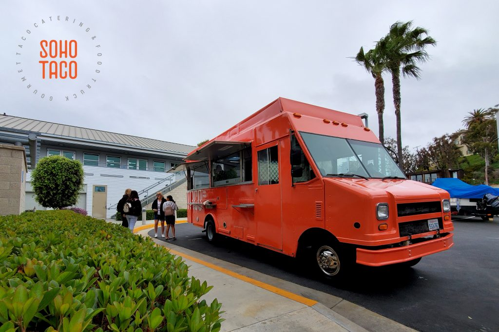 SOHO TACO Gourmet Taco Catering - Newport Sea Base - Newport Beach - Guests Placing Their Orders
