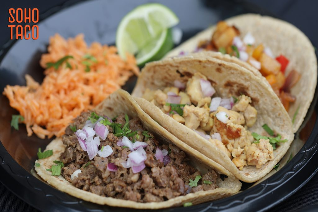 SOHO TACO Gourmet Taco Catering - Newport Sea Base - Newport Beach - Three Tacos on the Menu