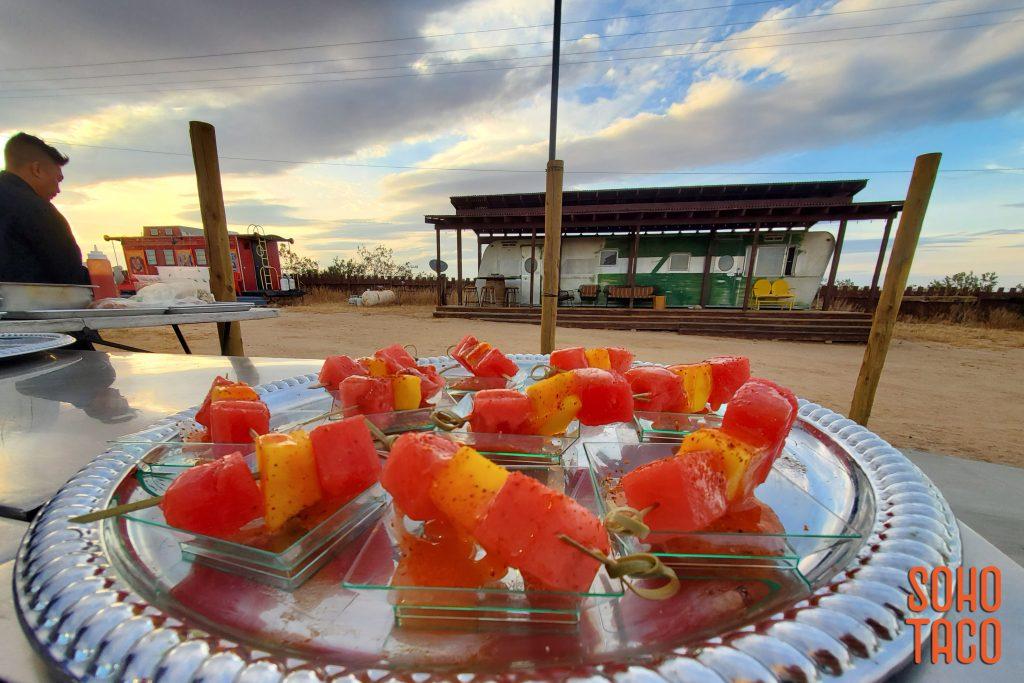 SOHO TACO Gourmet Taco Catering - Hicksville Trailer Palace - Wedding - Espadillas de Fruta Appetizers
