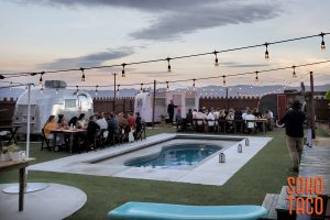 SOHO TACO Gourmet Taco Catering - Hicksville Trailer Palace - Wedding - Swimming Pool & Guests