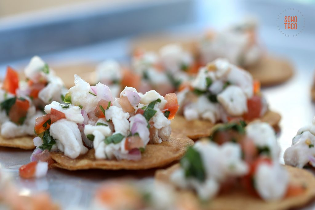 SOHO TACO Gourmet Taco Catering - Hicksville Trailer Palace - Wedding - Tostaditas de Ceviche Appetizers 001