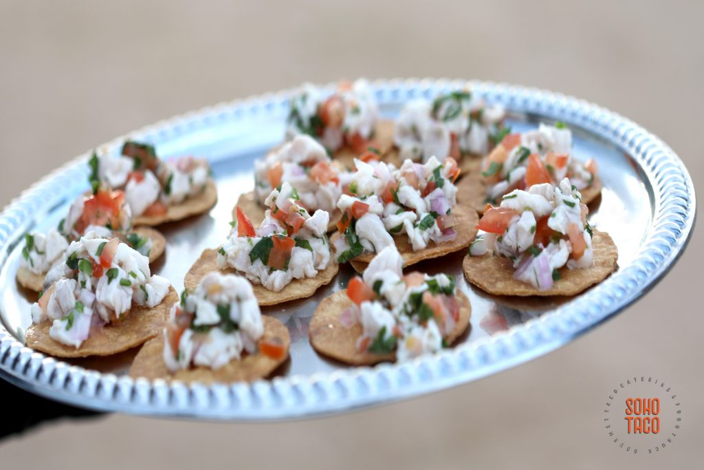 SOHO TACO Gourmet Taco Catering - Hicksville Trailer Palace - Wedding - Tostaditas de Ceviche Appetizers