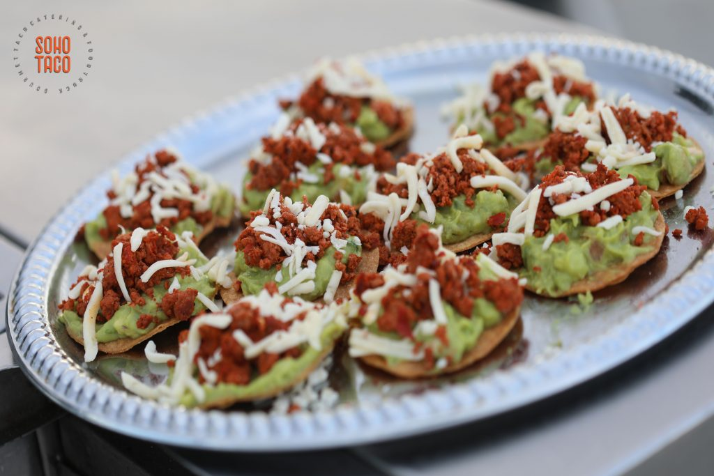 SOHO TACO Gourmet Taco Catering - Hicksville Trailer Palace - Wedding - Tostaditas de Chorizo Appetizers