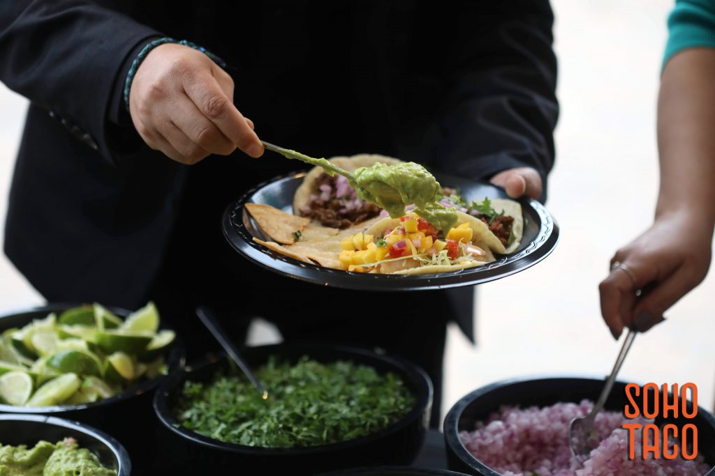 SOHO TACO Gourmet Taco Catering - Dove Canyon Courtyard - Wedding Catering - Adding a Spoonful of Guacamole