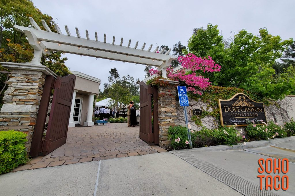 SOHO TACO Gourmet Taco Catering - Dove Canyon Courtyard - Wedding Catering - Entrance to Venue