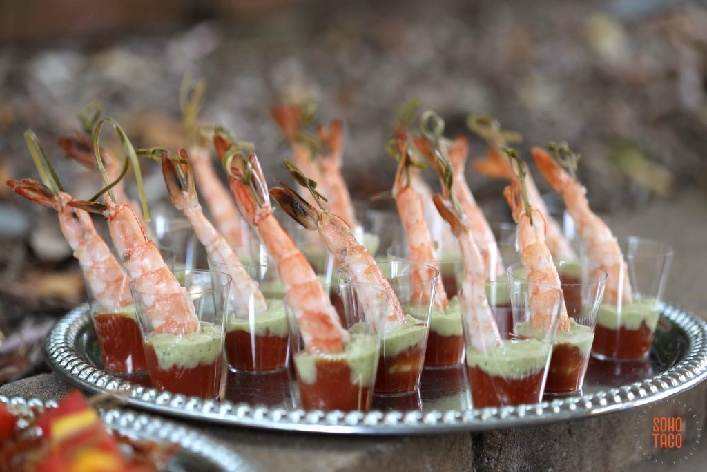 SOHO TACO Gourmet Taco Catering - Dove Canyon Courtyard - Wedding Catering - Espadillas de Camarones (still)