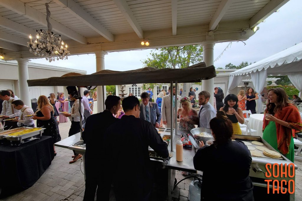 SOHO TACO Gourmet Taco Catering - Dove Canyon Courtyard - Wedding Catering - In the Middle of Dinner Service