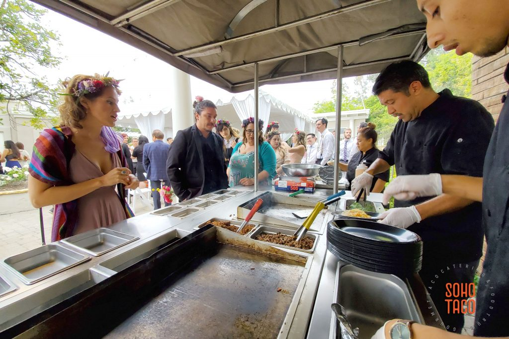 SOHO TACO Gourmet Taco Catering - Dove Canyon Courtyard - Wedding Catering - Making A Decision At The Cart