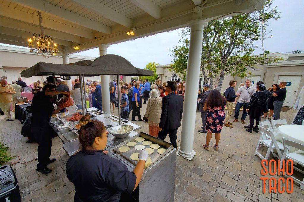 SOHO TACO Gourmet Taco Catering - Dove Canyon Courtyard - Wedding Catering - Making Hand-Pressed Tortillas in the Courtyard
