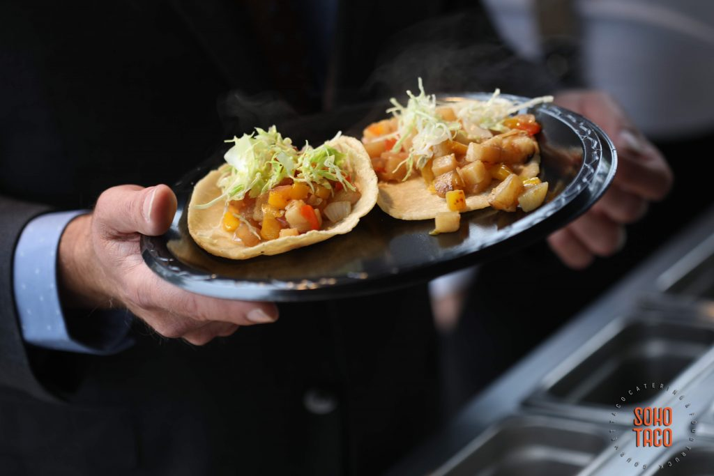 SOHO TACO Gourmet Taco Catering - Dove Canyon Courtyard - Wedding Catering - Vegan Spicy Potato Tacos