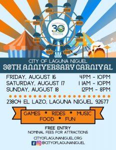 SOHO TACO Gourmet Taco Truck - City of Laguna Niguel - 30th Anniversary Carnival Invitation Flyer-page-001