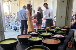 SOHO TACO Gourmet Taco Catering - Wedding - Fullerton Arboretum - Guests Admiring The Aesthetics