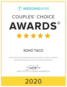 SOHO TACO Gourmet Taco Catering - WeddingWire - Couples Choice Awards 2020