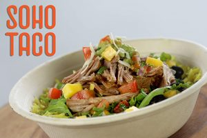 SOHO TACO Gourmet Taco Catering - Burrito Bowl - Carnitas