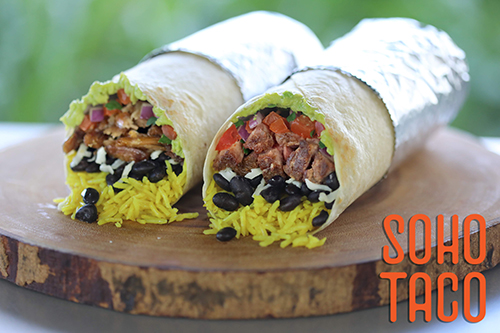SOHO TACO Gourmet Taco Catering - Burritos