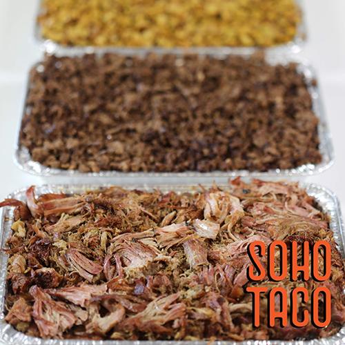 SOHO TACO - Gourmet Taco Catering - Trays of Meats